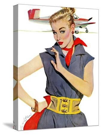 "The Girl Who Stole Airplanes  - Saturday Evening Post ""Leading Ladies"", December 6, 1952 pg.24"