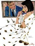 """The Marriage Wrecker - Saturday Evening Post """"Leading Ladies"""", March 1, 1958 pg.22-Coby Whitmore-Giclee Print"""