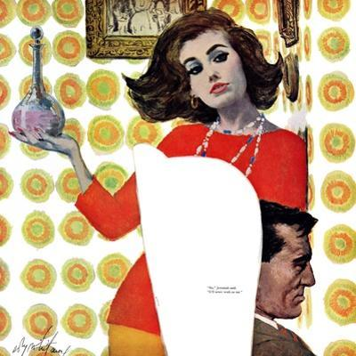 """The Love Potion - Saturday Evening Post """"Leading Ladies"""", August 6, 1960 pg.17 by Coby Whitmore"""