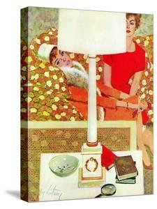 """The Marriage Wrecker - Saturday Evening Post """"Leading Ladies"""", March 1, 1958 pg.22 by Coby Whitmore"""