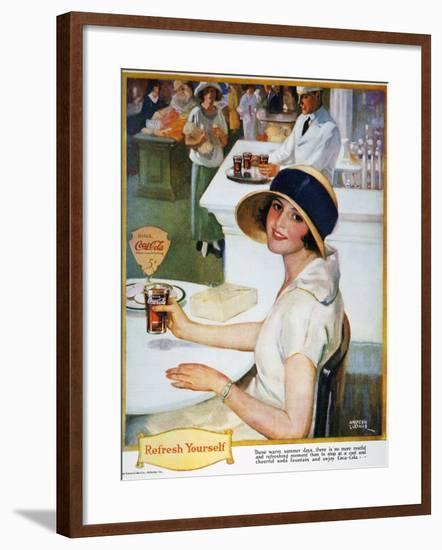 Coca-Cola Ad, 1924--Framed Giclee Print