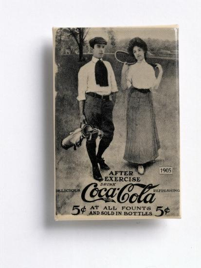 Coca-Cola advertisement with a golfing theme, c1905-Unknown-Giclee Print