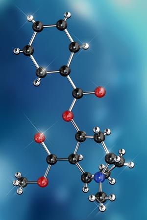 Cocaine Drug Molecule-Miriam Maslo-Photographic Print