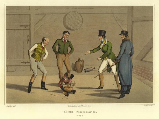 Cock Fighting-Henry Thomas Alken-Giclee Print