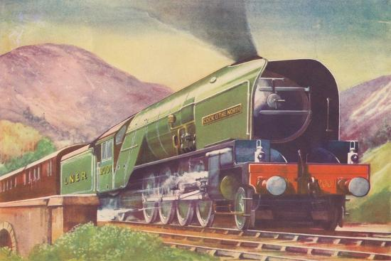 'Cock O' The North Locomotive, L.N.E.R., in the Highlands', 1940-Unknown-Giclee Print