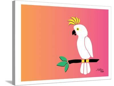 Cockatoo on Sunset-Ashlee Rae-Stretched Canvas Print