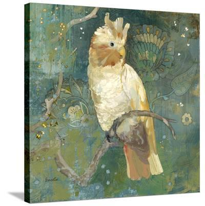 Cockatoo Perched--Stretched Canvas Print