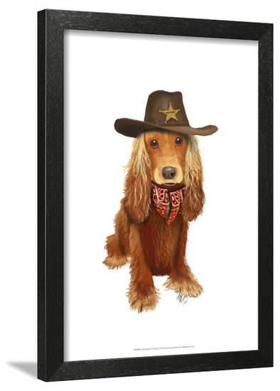 Cocker Spaniel Cowboy-Fab Funky-Framed Art Print