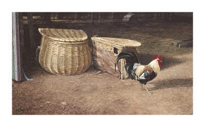Cockerel And Baskets-Peter Munro-Premium Giclee Print