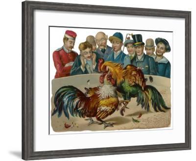 Cockfighting - Scrap--Framed Giclee Print