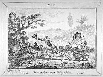 Cockney-Sportsmen Finding a Hare, 1800-James Gillray-Giclee Print