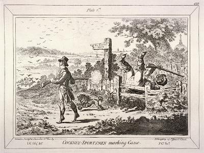 Cockney Sportsmen, London, 1800-James Gillray-Giclee Print