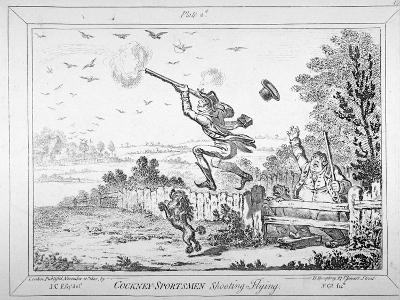 Cockney-Sportsmen Shooting Flying, 1800-James Gillray-Giclee Print