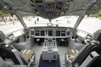 Cockpit of Superjet 100 Airliner-Ria Novosti-Photographic Print