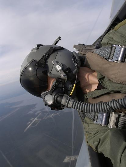 Cockpit View of a Pilot Flying An F-15 Eagle-Stocktrek Images-Photographic Print