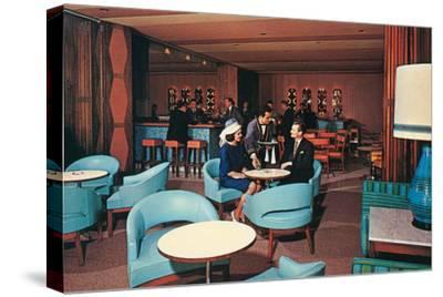 Cocktail Lounge with Sky Blue Chairs