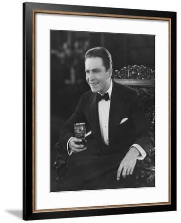Cocktail Party Guest--Framed Photo