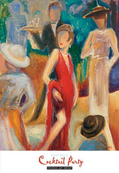 Cocktail Party-Karen Dupr?-Art Print