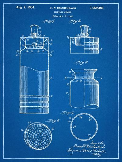 Cocktail Shaker Construction Patent--Art Print