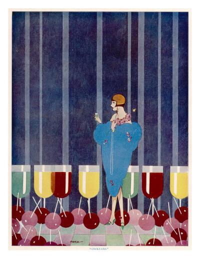 Cocktails by Baird--Giclee Print