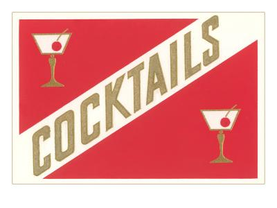 Cocktails, Gibsons--Art Print