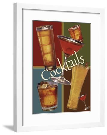 Cocktails Large R2-Tim Wright-Framed Giclee Print