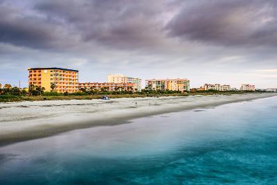 Cocoa Beach, Florida Beachfront Hotels and Resorts.-SeanPavonePhoto-Photographic Print