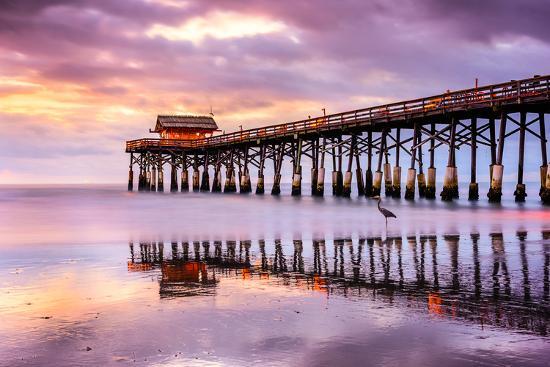 Cocoa Beach, Florida, USA at the Pier.-SeanPavonePhoto-Photographic Print