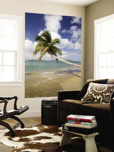 Coconut Grove Beach at Cades Bay, with St. Kitts on Horizon-Greg Johnston-Wall Mural