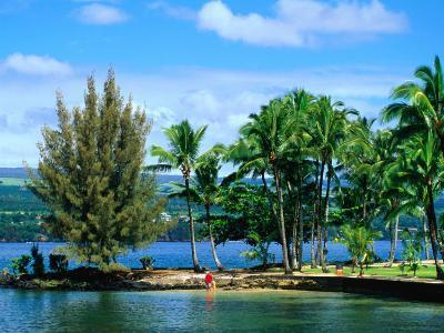 Coconut Island, a Small Island in Hilo Bay, Hawaii, USA-Ann Cecil-Photographic Print