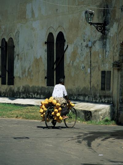 Coconut Seller Riding His Bicycle, Galle, Sri Lanka-Yadid Levy-Photographic Print