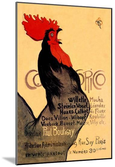 Cocorico, c.1899-Th?ophile Alexandre Steinlen-Mounted Print