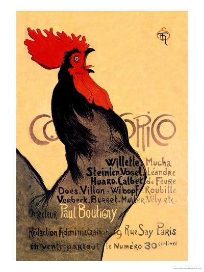 Cocorico, c.1899-Th?ophile Alexandre Steinlen-Art Print