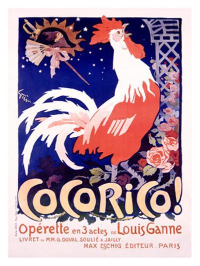 Cocorico-Jules-Alexandre Gr?n-Giclee Print