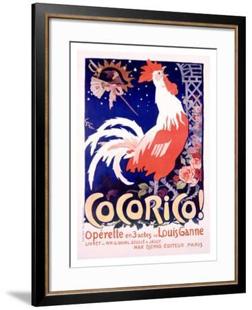 Cocorico-Jules-Alexandre Grün-Framed Giclee Print