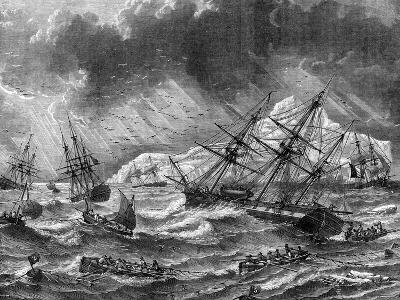 Cod Fishing, Canada, 19th Century- Le Breton-Giclee Print