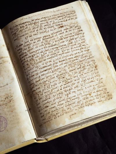 Codex in the Library of the Monastery of St Scholastica, Subiaco, Italy--Giclee Print