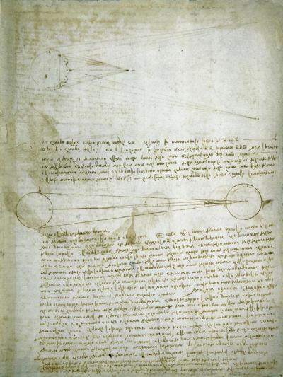 Codex Leicester: The Changing Earth-Leonardo da Vinci-Giclee Print