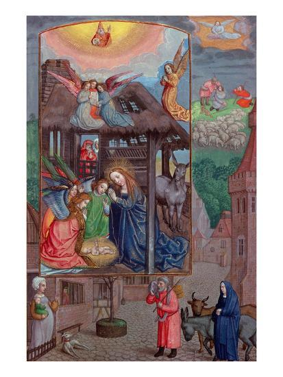 Codex Ser Nov 2844 Birth of Christ, from the Rothschild Prayer Book (Vellum)-Flemish-Giclee Print