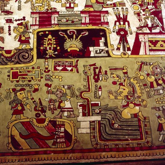 Codex Zouche-Nuttall is a pre-Columbian document of Mixtec pictography, 1200-1521-Unknown-Giclee Print