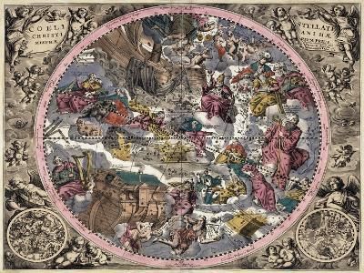 Coeli Stellati Christiani Hemisphaerium Prius 1708- Valck & Schenk-Giclee Print