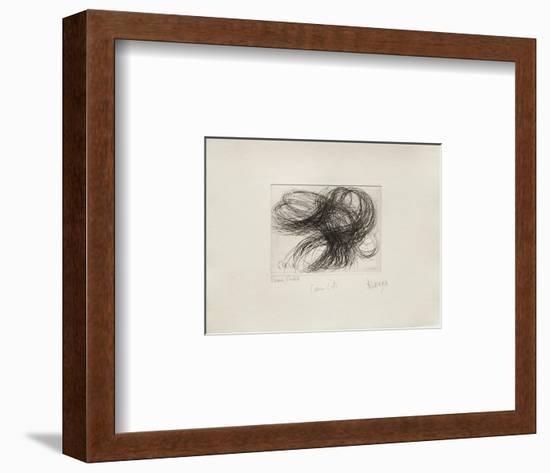 Coeurs Dete-Jean Messagier-Framed Limited Edition