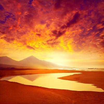 Cofete Fuerteventura Barlovento Beach at Canary Islands of Spain-Naturewolrd-Photographic Print