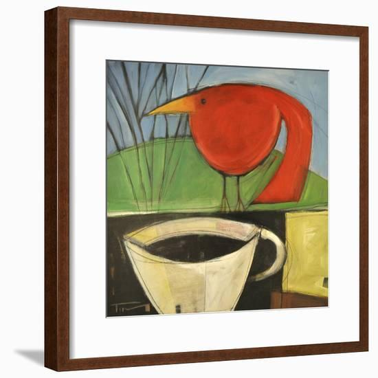 Coffee and Red Bird-Tim Nyberg-Framed Giclee Print
