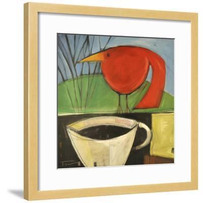 Coffee and Red Bird-Tim Nyberg-Framed Giclee Print