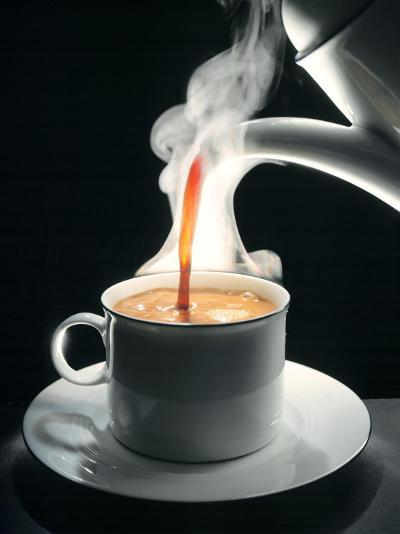 Coffee Being Poured into a Cup-J?rgen Klemme-Premium Photographic Print