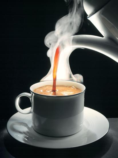 Coffee Being Poured into a Cup--Photographic Print