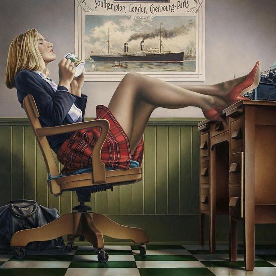Coffee Break-Paul Kelley-Art Print
