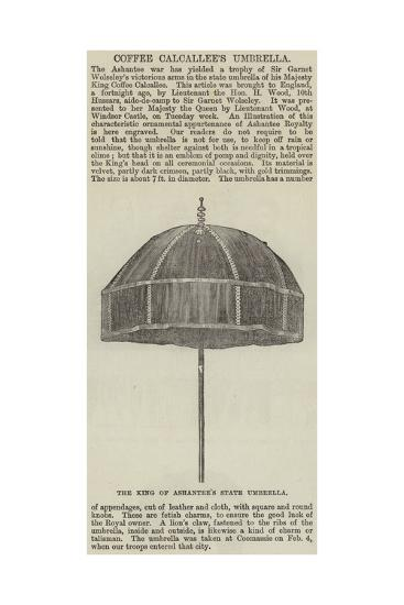 Coffee Calcallee's Umbrella--Giclee Print