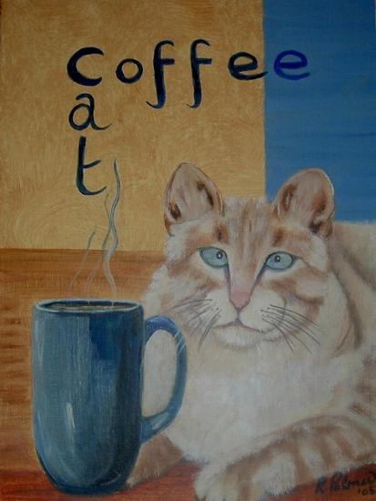 Coffee Cat-Ruth Palmer-Art Print